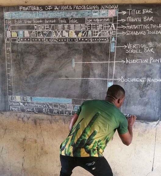 nauczyciel z Ghany