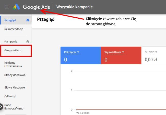 pierwsza kampania w Google Ads - grupa reklam