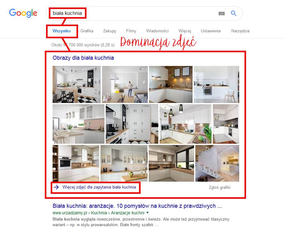 wyświetlanie zdjęć w Google
