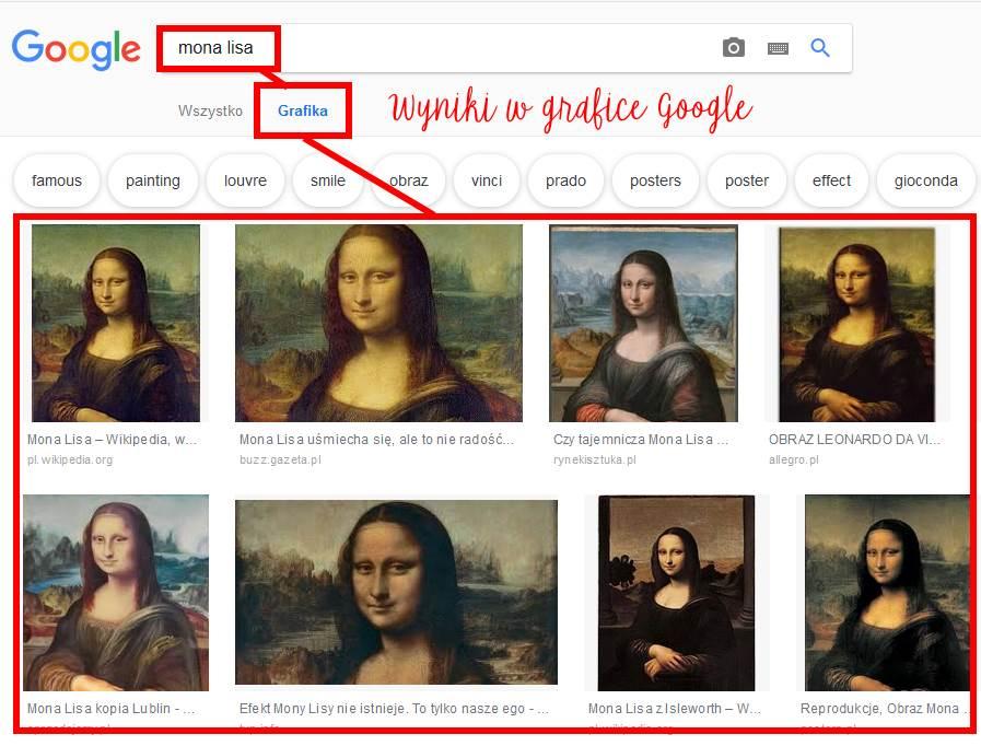 wyniki zdjęć w Google