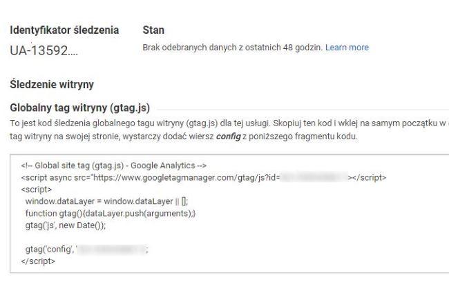 Wprowadzenie do Google Analytics - kod śledzenia