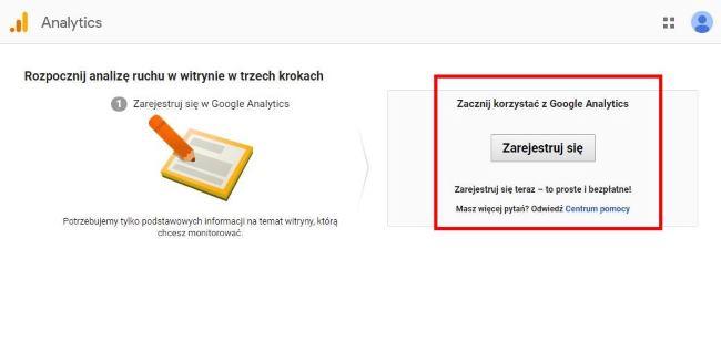 Wprowadzenie do Google Analytics - rejestracja w GA