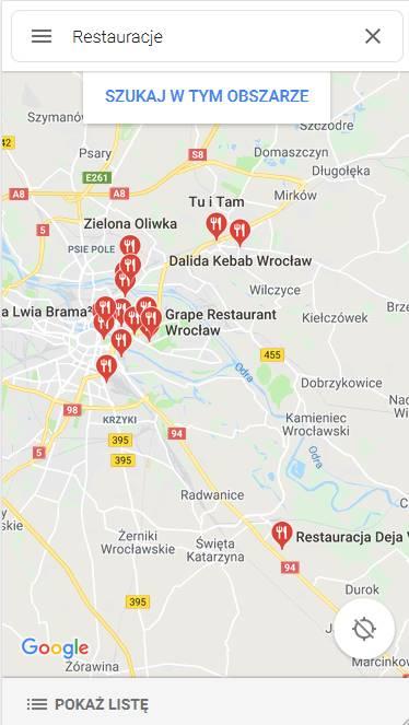Pozycjonowanie w mapach Google - urządzenia mobilne