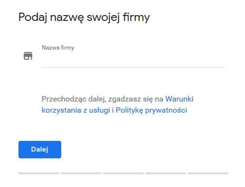 Pozycjonowanie w mapach Google - wybór nazwy firmy