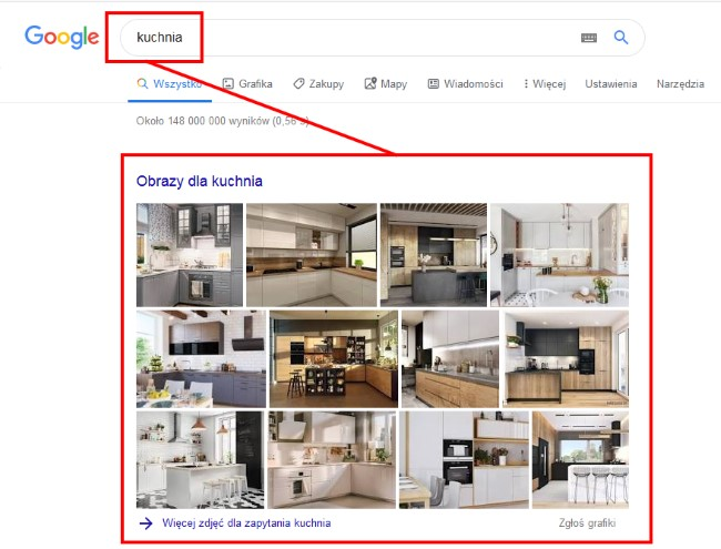 Pozycjonowanie grafiki w Google - zapytania inspiracyjne