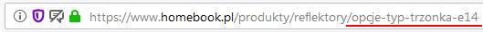 Noindex w SEO - URL z filtrem