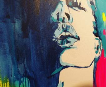 Agata Bronikowska – usta – obraz do domu na zamówienie